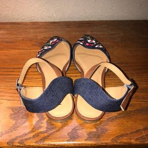 Rampage Shoes - Brand New Denim Embroidered Flats